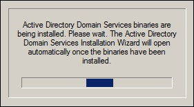 Active Directory Wizard Loading
